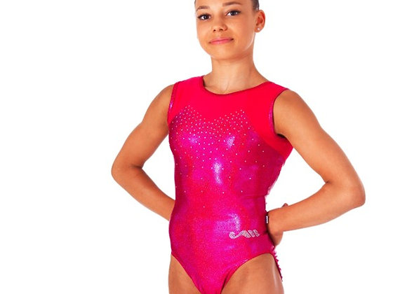 SATIN SLEEVELESS LEOTARD