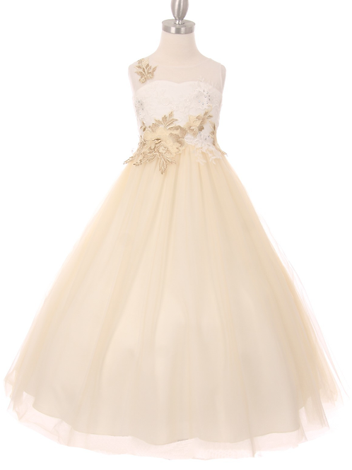 Style#5031, Ivory/Champagne, Size 6