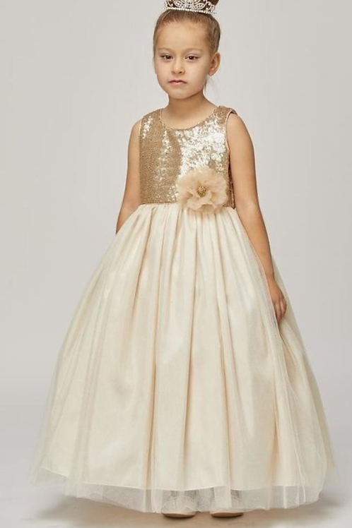 Style#1204, Champagne, Size 8