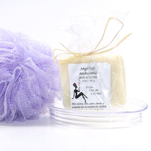 Angel Soft - Antibacterial - Non-Scented - All Natural Soap Bar