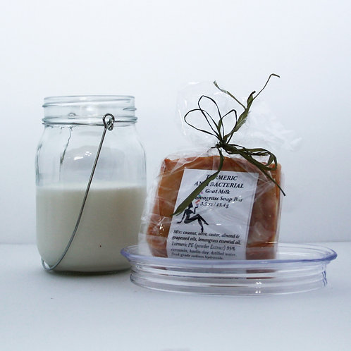 Lemongrass Turmeric  'The Golden Spice' Antibacterial Goat Milk Soap