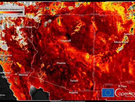 Coup de chaud sur l'ouest de l'Amérique du Nord !