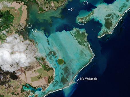Des images satellites pour aider dans la lutte contre la marée noire au large de l'Île Maurice