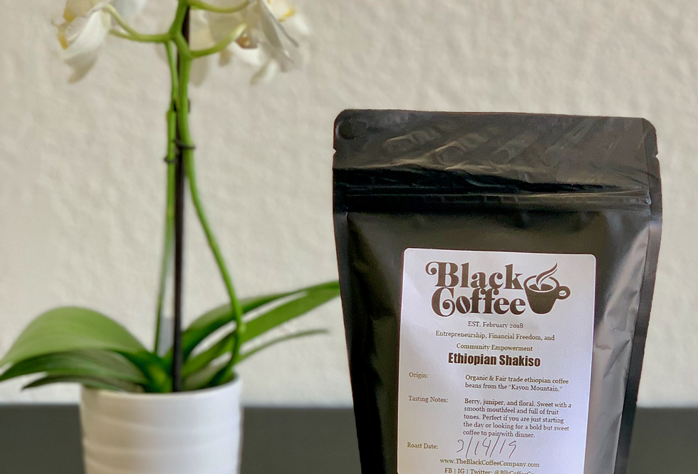 """Ethiopian Shakiso"" Organic Coffee Beans"