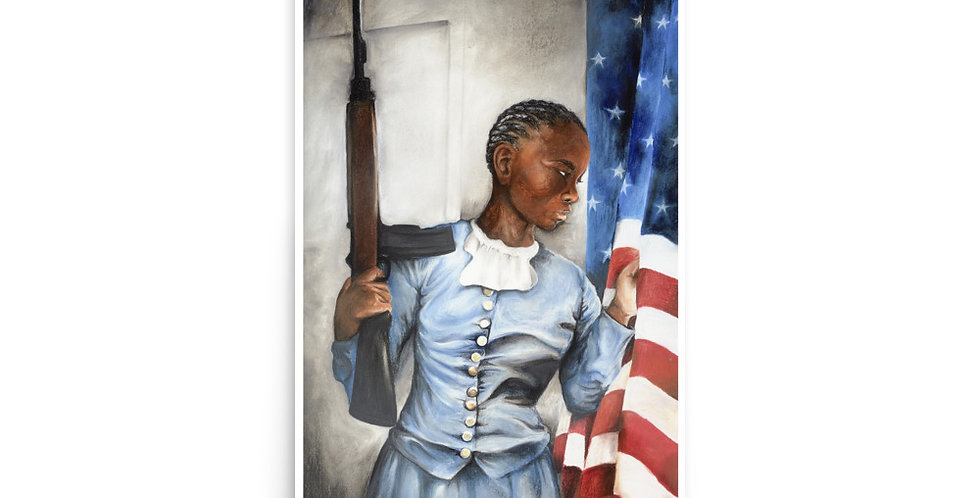 """""""The Patriot."""" by Monica Gibbs - 12in x 18in"""