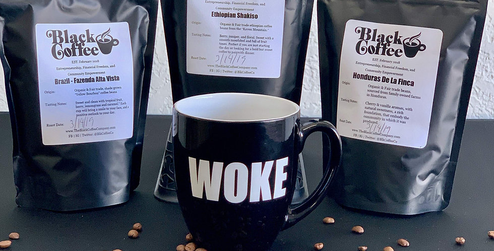 WOKE Mug + Trifecta Coffee Combo