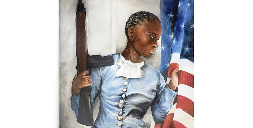 """The Patriot."" by Monica Gibbs - 24in x 36in Print"