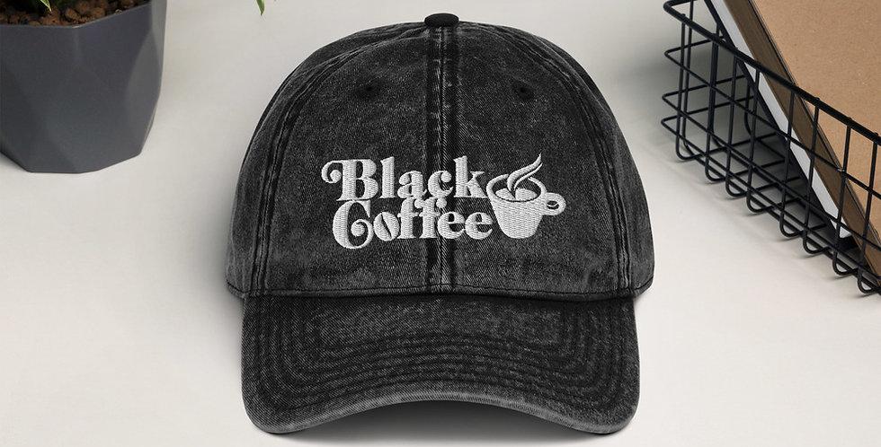 Black Coffee Co Vintage Cotton Twill Cap