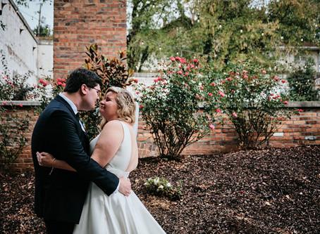 Sarah and Kaleb's Green and Gold Warehouse Wedding