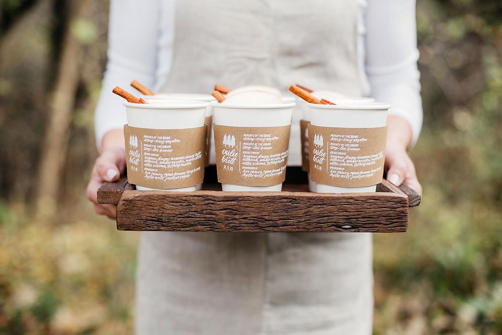 Cardboard Coffee Sleeve Wedding Programs