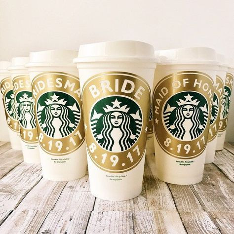 Bridal Party Coffee Cups