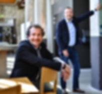 Mikis Snijders zittend Rob Cornelissen staand, advocaat MKB Roermond