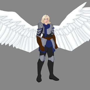 Blue Animation Concept Wings Open