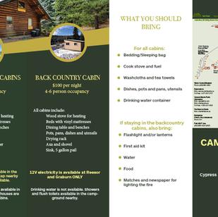Comfort Camping Brochure Back