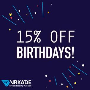 15% Off Birthdays