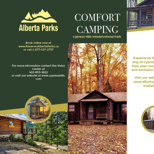 Comfort Camping Brochure Front