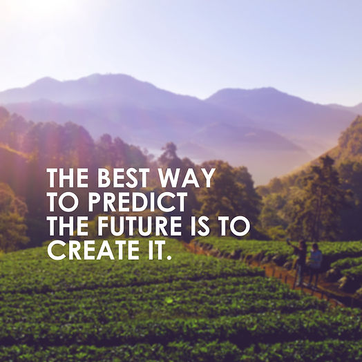 motivational quote to create future on n