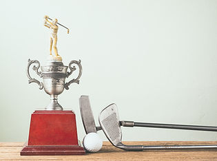 Clubs de golf, Ball et Trophée