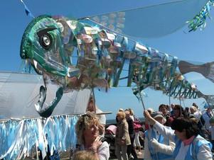 Big fish on parade