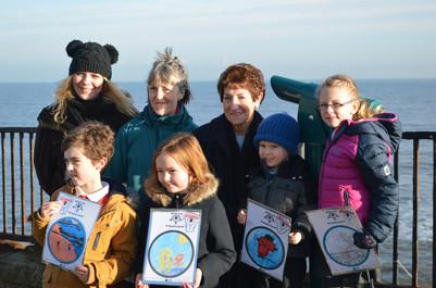 Telescope comp winners with Mayor and Big Local