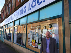 Big Local Chair, Alan, outside of our community shop