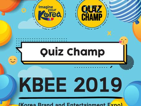 Quiz Champ @ Love Korea (KBEE 2019)