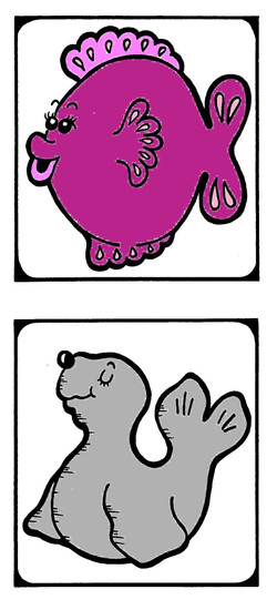 Water animals 2 color