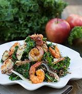 Apple, Kale, Quinoa Salad with Spicy Shr
