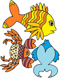 Water animals 8 color