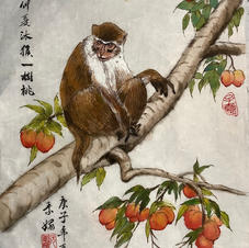 Monkey on a Peach Tree