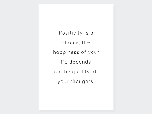 Choose positivity