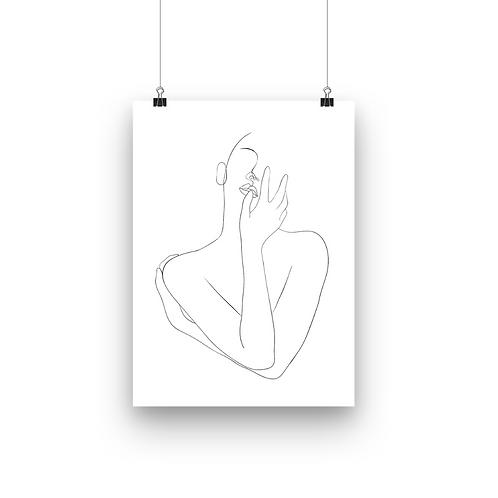 Lady Love Line Art