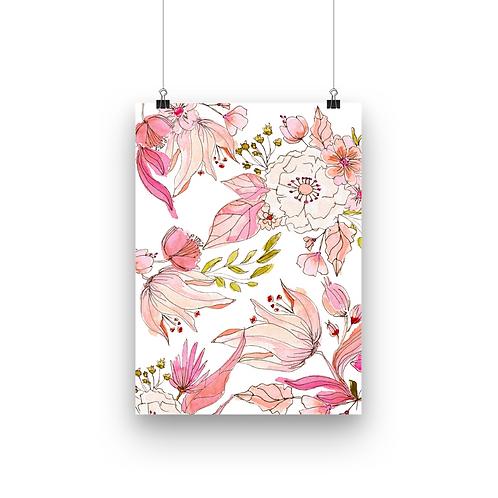 Pink Watercolour Florals