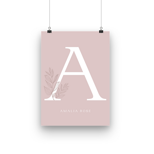 Custom Letter & Name | Dusty Pink