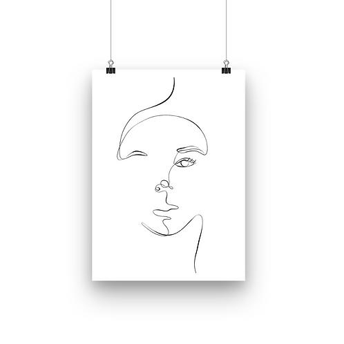 Her Face Line Art