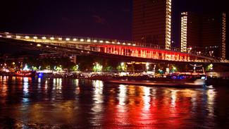 OF TWO, SIMONE DE BEAUVOIR FOOTBRIDGE, PARIS