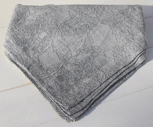 Burraco Hemstitch Tablecloth In Grey