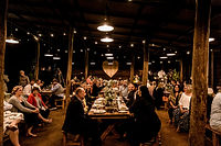 Barn style wedding reception in the old Machinery Shed.