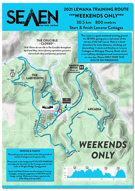 SEVEN 2021 WEEKEND ONLY Training Route L