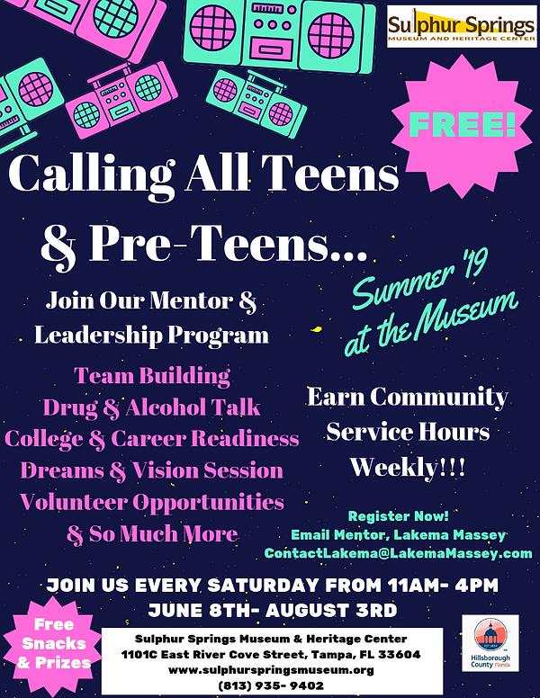 Summer Teen Mentor & Leadership Program_