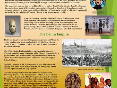 BENIN the Wakanda connection