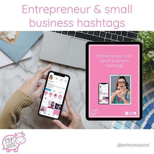 Entrepreneur and Small business hashtags