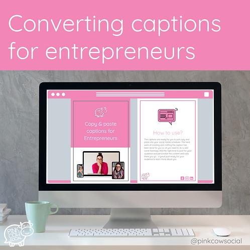 Converting Captions for Entrepreneurs