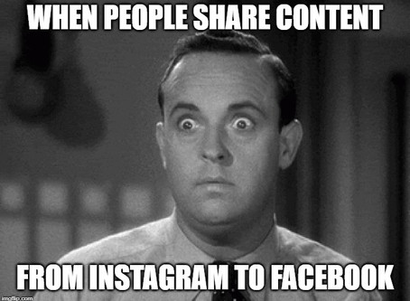 Sharing content across Facebook and Instagram is a No Deal.
