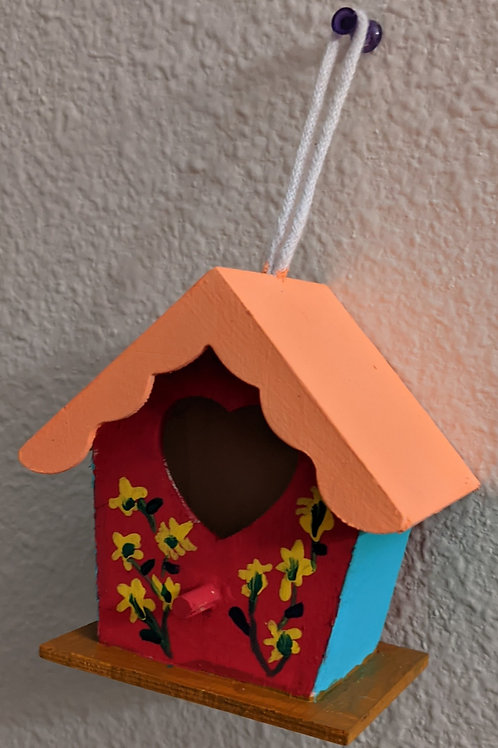 red front birdhouse