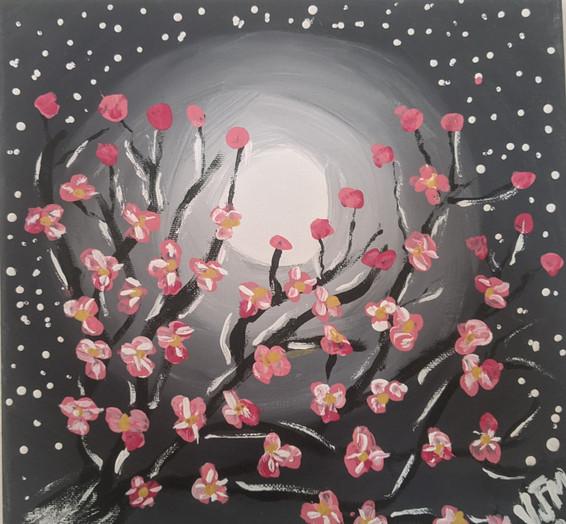 the night sky and a cherry tree.jpg