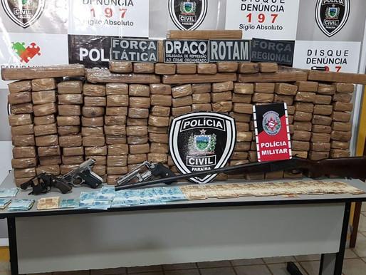 Cerca de 500 quilos de maconha são aprendidos pela polícia no Sertão da Paraíba