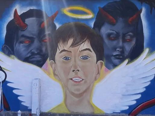 Menino Henry Borel é retratado como anjo em mural criado na zona norte do Rio de Janeiro