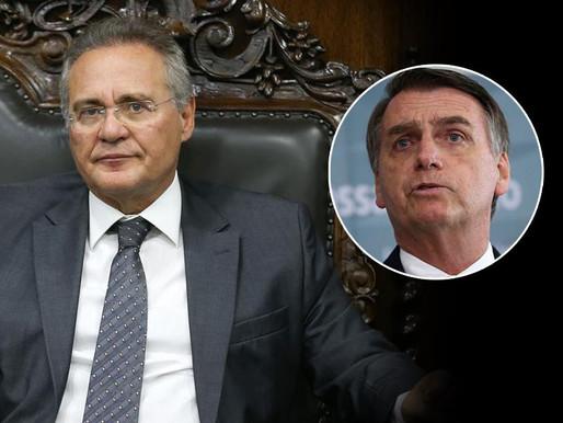 """Bolsonaro ataca Renan Calheiros, relator da CPI: """"Vagabundo é elogio para ele"""""""