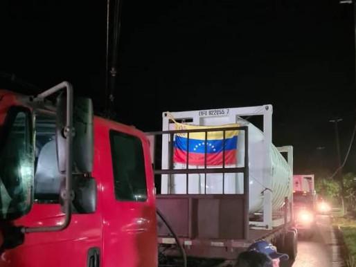 Oxigênio doado pela Venezuela chega ao Amazonas